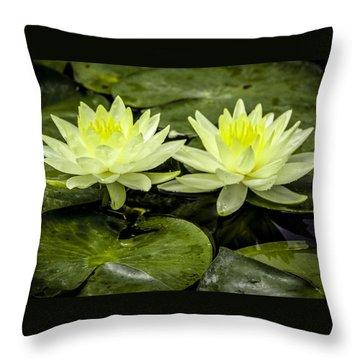 Waterlily Duet Throw Pillow