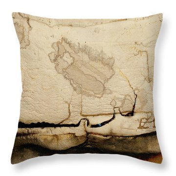 Waterlines02 Throw Pillow