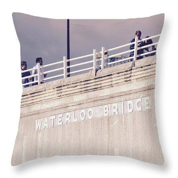 Throw Pillow featuring the photograph Waterloo Bridge by Rasma Bertz