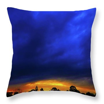 Throw Pillow featuring the photograph Waterloo Sunset by Mark Blauhoefer