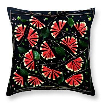 Watermelon Fans Throw Pillow
