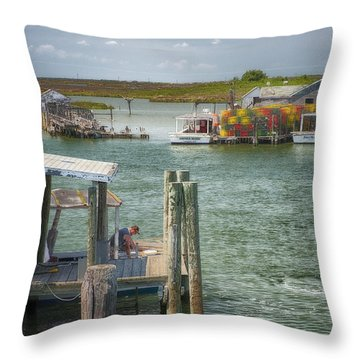Watermen Of Tangiers Throw Pillow
