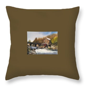 Watermill Throw Pillow