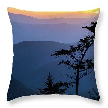 Waterrock Blues Throw Pillow