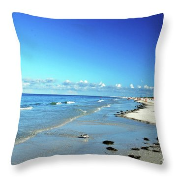 Throw Pillow featuring the photograph Water's Edge by Gary Wonning