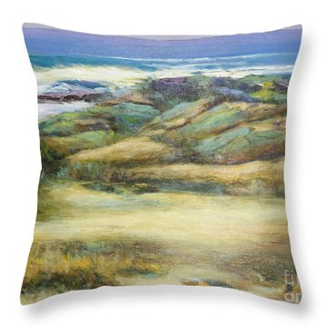 Water's Edge Throw Pillow by Glory Wood