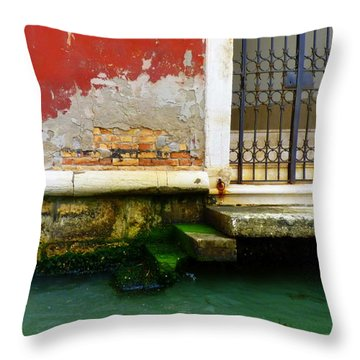 Water's Edge In Venice Throw Pillow