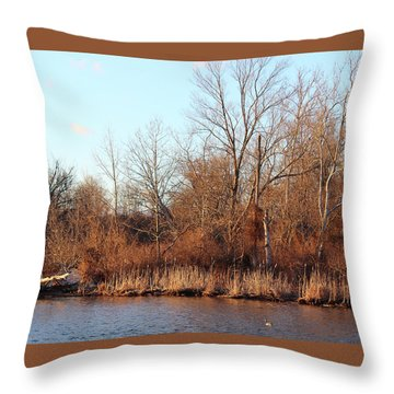 Northeast River Banks Throw Pillow