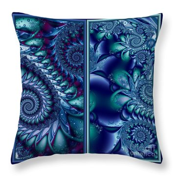 Waters Of The Caribbean Throw Pillow by Michelle H
