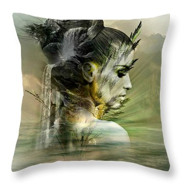 Waters Of The Whispered Sole Throw Pillow