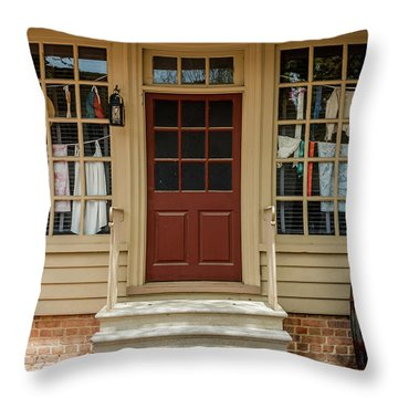 Waters Storehouse Colonial Williamsburg Throw Pillow
