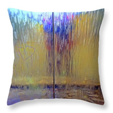 Throw Pillow featuring the photograph Watery Rainbow Abstract by Nareeta Martin