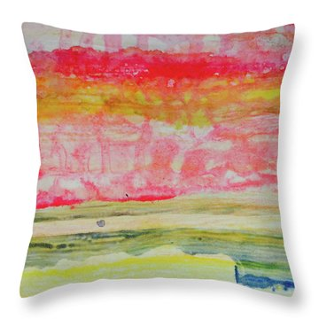 Watery Seascape Throw Pillow