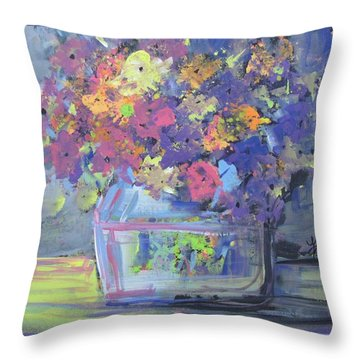 Watery Vessel Throw Pillow