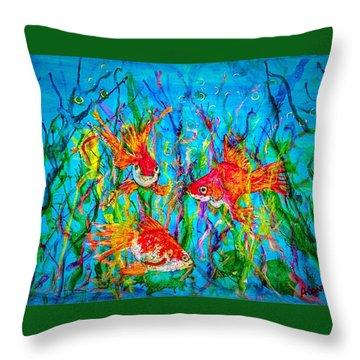 Watery Wonderland Throw Pillow