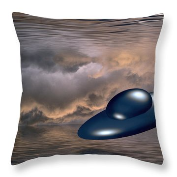 Watery World Throw Pillow
