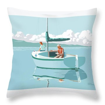 Wating For The Wind Throw Pillow