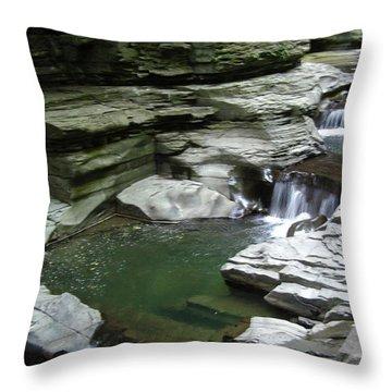 Throw Pillow featuring the photograph Watkins Glen State Park by John Schneider