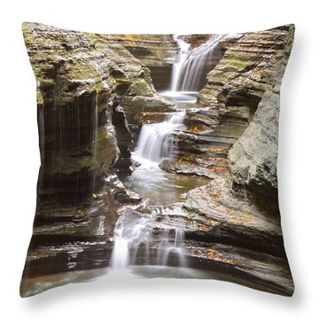 Watkins Glen Steps Throw Pillow