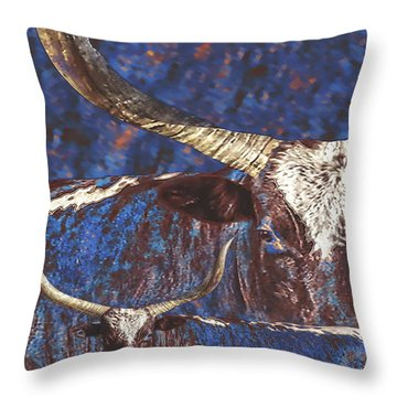 Watusi Blues Throw Pillow
