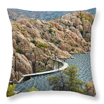 Watson Lake Dam Throw Pillow