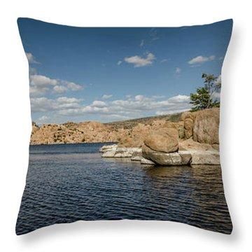 Watson Lake Panorama Throw Pillow