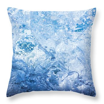 Wave With Hole Throw Pillow