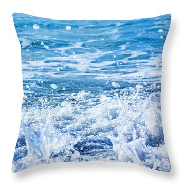Wave 3 Throw Pillow