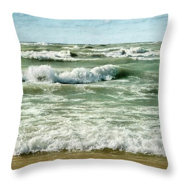 Wave Action Throw Pillow