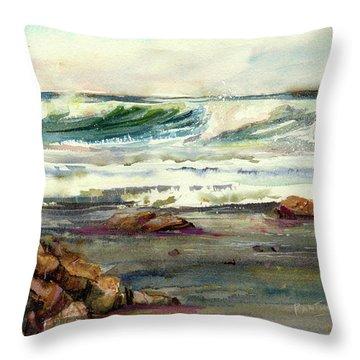 Wave Action Throw Pillow