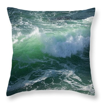 Wave At Montana De Oro Throw Pillow