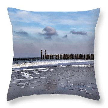 Wave Breakers Throw Pillow
