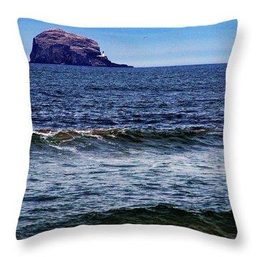 Wave Bye-bye Throw Pillow by Nik Watt