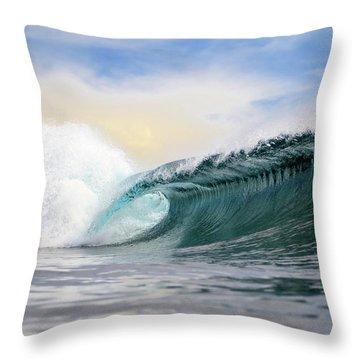Wave Crashing Throw Pillow