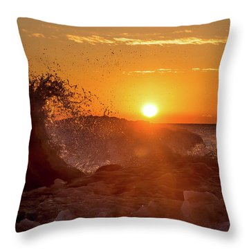 Wave Catcher Throw Pillow