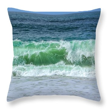 Wave  Throw Pillow by Claire Whatley