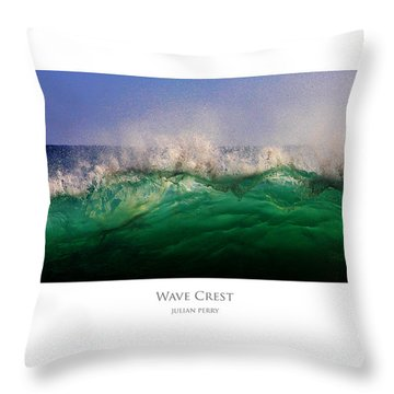 Throw Pillow featuring the digital art Wave Crest by Julian Perry
