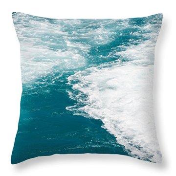 Wave Design Throw Pillow
