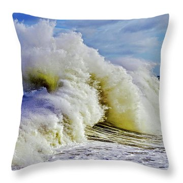 Moody Surf Throw Pillow