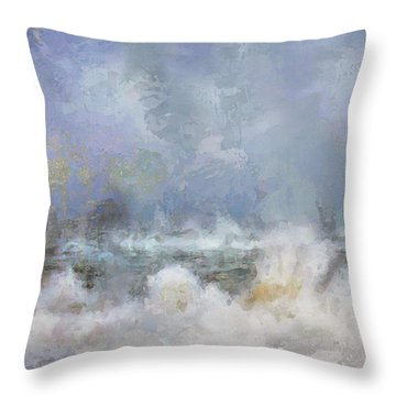 Wave Fantasy Throw Pillow