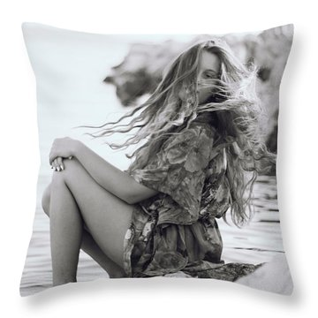 Wave It Throw Pillow by Irma Vargic