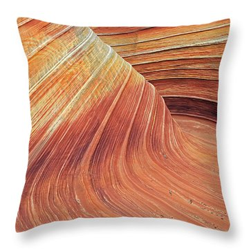 Wave Throw Pillow by Johnny Adolphson