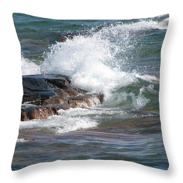 Wave Length Throw Pillow