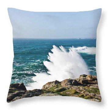 Wave Like Quartz Throw Pillow by Terri Waters