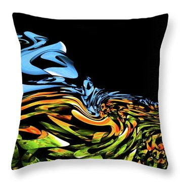 Wave Of Colors Throw Pillow