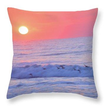 Wave Of Gratitude Nature Art Throw Pillow