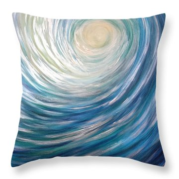 Wave Of Light Throw Pillow