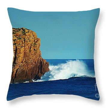 Wave Power Throw Pillow by Blair Stuart