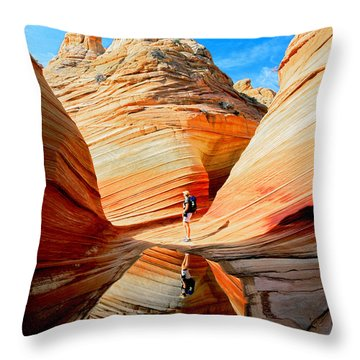 Wave Reflection Throw Pillow