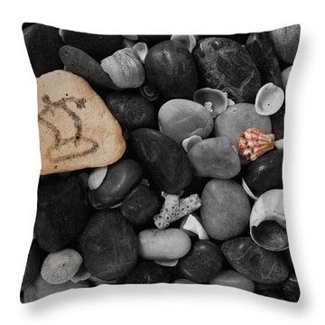 Wave Rocks Throw Pillow